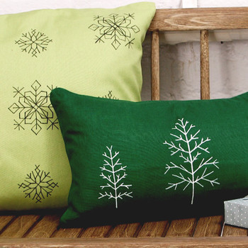 Faux Cross-Stitch Accent Pillows
