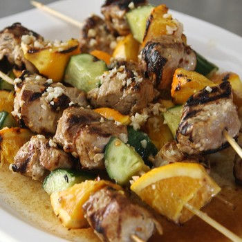 Spicy and Tangy Mojo Pork Kebabs