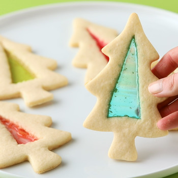 Stained Glass Holiday Cookies