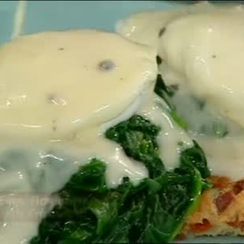 Eggs Florentine with Mornay Sauce