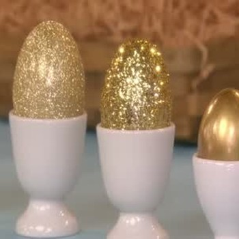Golden Eggs Three Ways for Easter