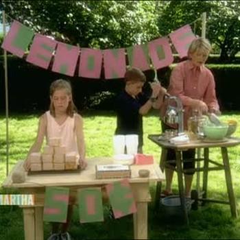 Lemonade Stand and Fresh Lemonade