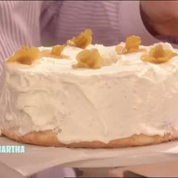 Lemony Flowers on Angel Food Cake