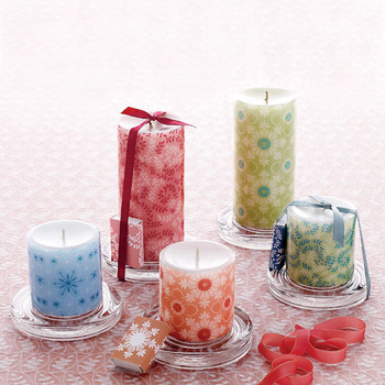 Decorative Decal Pillar Candles