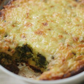 Watch: Cheesy Spinach, Potato Egg Casserole