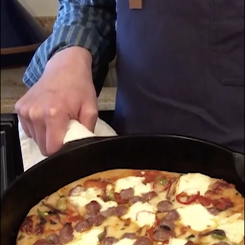 Watch: Skillet Pizza Diavola