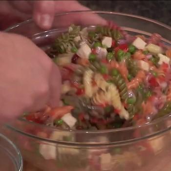 Vegetable and Chicken Pasta Salad