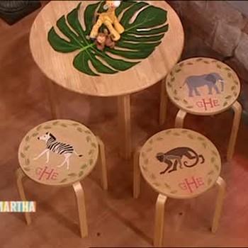 Animal Stencil Stool Seats with Elisabeth Hasselbeck