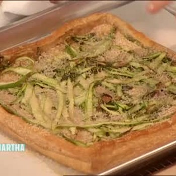 Asparagus and Parmesan Cheese Tart