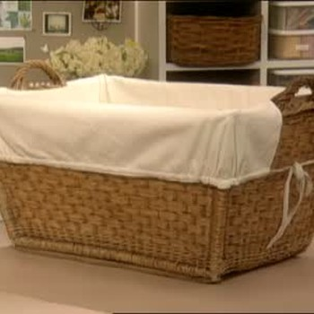 How to Make a Laundry Basket Liner