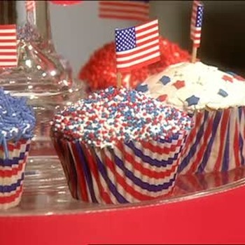Patriotic Decorations for Cupcakes