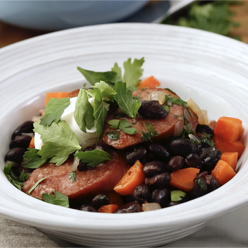 Watch: Black Beans and Sausage