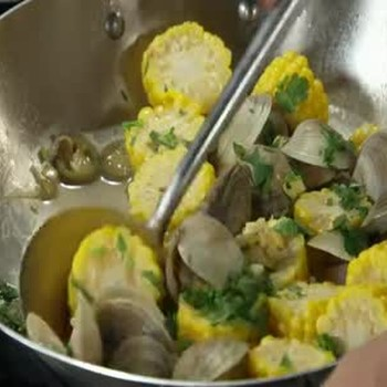 Steamed Clams with Corn on the Cob