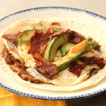 Bacon and Egg Huevos Rancheros Wrap