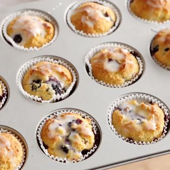 Blueberry-Orange Cornmeal Muffins