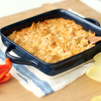Hot Crab and Pimiento Cheese Spread