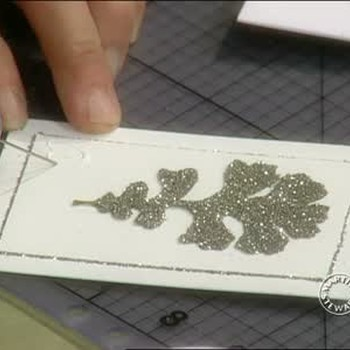 How To Make Glittered Holiday Cards
