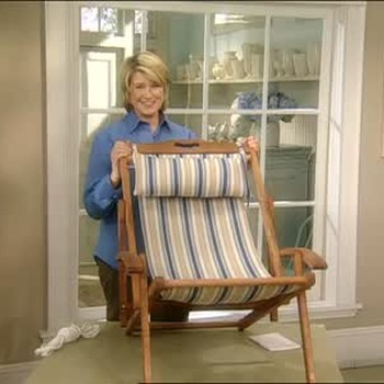 How to Replace a Beach Chair Seat, Part 2