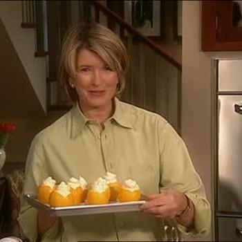 Lemon Mousse Served In A Lemon Bowl