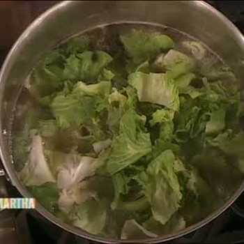 Passover Chicken Soup with Escarole