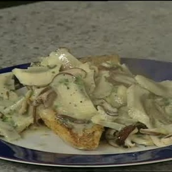 Snapper with Artichoke Butter Sauce