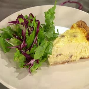 Tantalizing Quiche with Green Salad