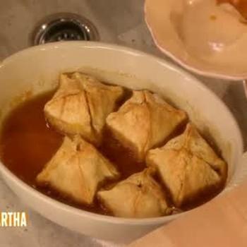Apple Dumplings with Cider Rum Sauce