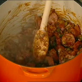 Chicken Sausage and Ham Gumbo Part 1