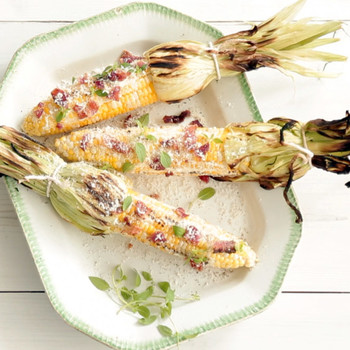 Grilled Summer Corn and Crispy Bacon
