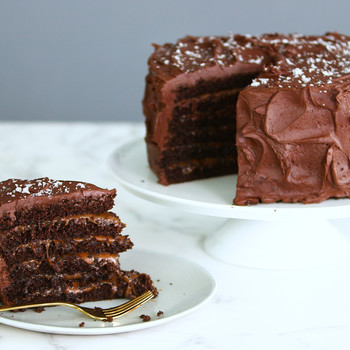 Watch: Salted-Caramel Six-Layer Cake