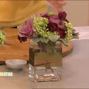 How to Make a Kale Flower Arrangement