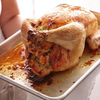 Roast Chicken with Sourdough Stuffing