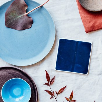 Try This New Thanksgiving Table Color Scheme: Rust and Aqua!