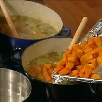 Emeril's Butternut Squash Soup and Parsnip Soup, Part 1