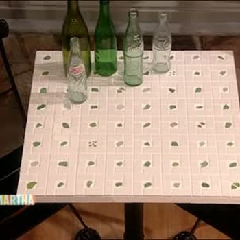 How to Create a Sea Glass Table, Part 2