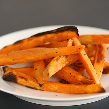 Crispy Oven-Baked Sweet Potato Fries Video