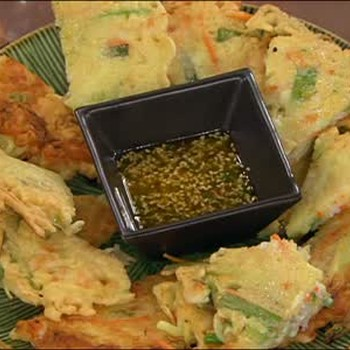 Korean Shrimp and Green Onion Pancakes