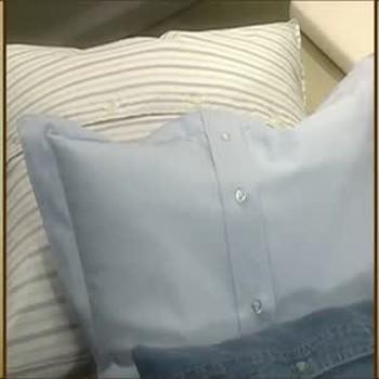 Martha Stewart's Recycled Shirt Pillows