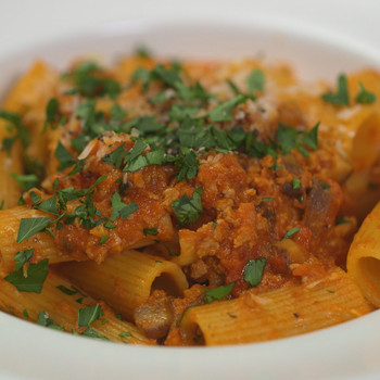 Turkey-and-Mushroom Bolognese Video