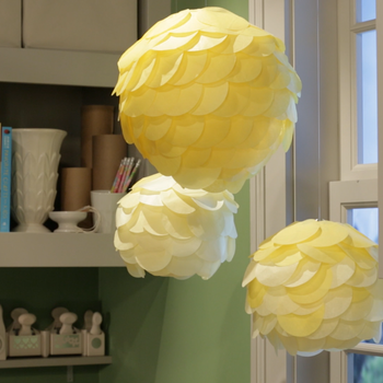 Simple Scalloped Tissue Paper Lanterns