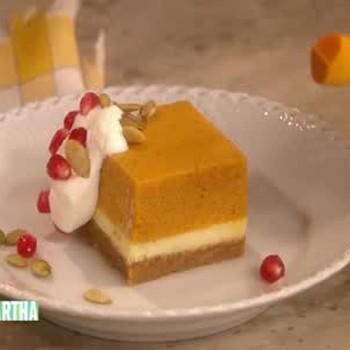 Thanksgiving Pumpkin Mousse Cheesecake