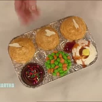 TV Dinner Cupcakes for April Fools Day