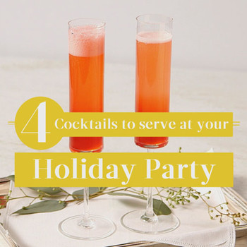 4 Drinks to serve at your Holiday Party