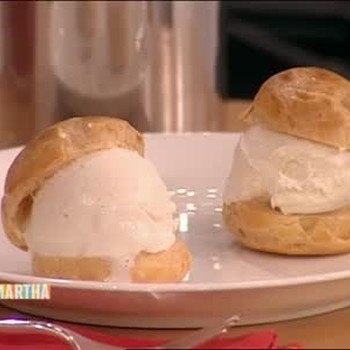 How to Fill Profiteroles with Ice Cream