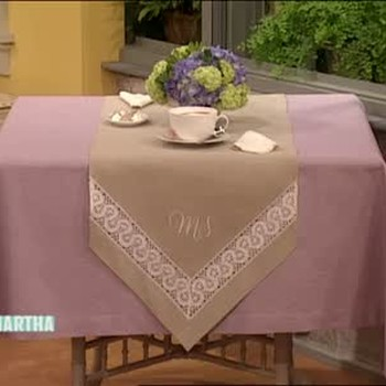 How To Make a Monogrammed Runner, Part 1