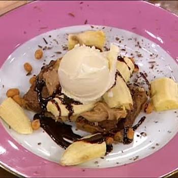 Peanut Butter and Banana Cookie Dessert