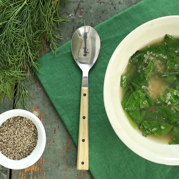 Lemon Quinoa-and-Spinach Soup
