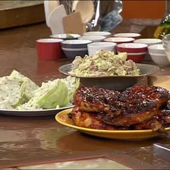 BBQ Chicken, Potato Salad, and Wedge Salad