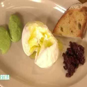 Burrata Cheese for Valentine's Day Dinner