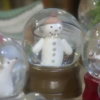 Christmas Tree Ornaments and Snow Globes